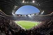 Soccer game, Allianz Arena, Munich, Bavaria, Germany