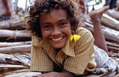 Girl, Smile, Tikopia, Temotu Province Solomon Islands, South Pacific