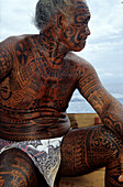 Full Body Tattoo, Rangiroa, Tuamotu Islands French Polynesia, South Pacific