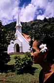 Church, Lady, Fatu Hiva, Marquesas French Polynesia, South Pacific