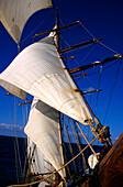 Fore mast, Sailing vessel, Sailing Vessel, Bora Bora, French Polynesia, South Pacific, PR