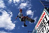 Skateboarder auf der Rampe, Skateboarding Sports