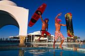 Fun on the pool, Djerba Tunesia
