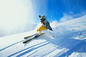 Carving, Skiing, Serfaus, Tyrol Austria