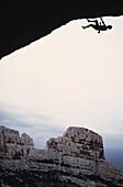 Extreme climber, Calonge, Cote d'Azur, Provence, France