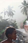 Boy near road, Cape Verde, Africa