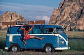 Freeclimbing, VW-Bus, Stefan Glowacz, Randszene release on application