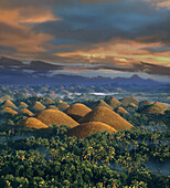 Sunrise, Chocolate Hills, Natural wonder, Bohol Island Philippines