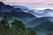 Morning mist in the Cordilleras mountains, Mountain Province, Luzon, Philippines, Asia