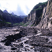 After eruption of Mount Pinatubo, Pinatubo volcano, Luzon Island Philippines