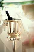 Wine Bottle in ice bucket, Hotel