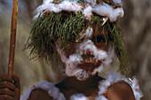 Aboriginal Child, Decorated for a Korroborree North. Terr., Australia