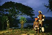 Zulu wedding couple, Shakaland, Kwazulu Natal South Africa