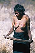Aboriginal woman, Walpiri tribe, Northern Territory Australia