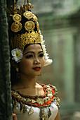 Temple dancer, Ta Prom temple, Angkor, Siem Raep Cambodia, Asia, Cambodia, Asia