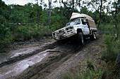 4WD adventure tour on Old Telegraph Track, Tip of Cape, Cape York Peninsula, Outback, Queensland, Australia