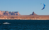 Kiteboarding, Lake Powell, Arizona, USA
