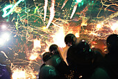 People at Yenshui fireworks festival, Yenshui, Tainan County, Taiwan, Asia