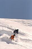 Skifahrer, Stubaital, Österreich