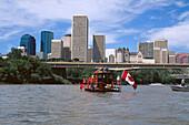 Float race, Klondike Days, Saskatchewan River, Edmonton, Alberta, Canada, North America, America