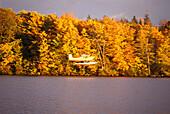 Lac St. Augustin in autumn, Quebec, Canada, North America, America