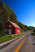 Highway near Saint Joseph-, de-la-Rive Quebec, Canada