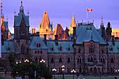 Parliament & Hotel Chateau Laurier, Ottawa, Quebec Canada