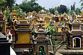 Graveyard in Northern Vietnam near Hanoi, , Hanoi, Vietnam Indochina, Asia