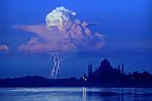 Thunder over Taj Mahal, Agra, Uttar Pradesh India, Asia