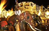 Kandy palace, Perahera buddhist festiva, Kandy, Sri Lanka Asia