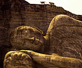 Reclining buddha, Gal Vihara, Polonnaruwa, Sri Lanka, Asia
