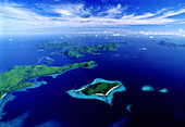 Aerial view of the Palawan archipelago, Palawan Island, Philippines, Asia
