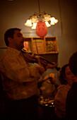 Pub, gypsy musician, istanbul, turkey