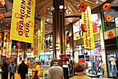 People inside Strohsack shopping complex, Leipzig, Saxony, Germany, Europe