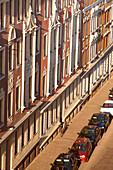 Old facades, old row houses in Plagwitz, Leipzig, Saxony, Germany
