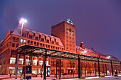 Augustus Square in the wintertime, Leipzig, Saxony, Germany