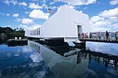USS Arizona Memorial, Pearl Harbor, Honolulu, Oahu, Hawaii, USA