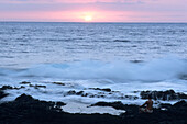 Coastside Meditation at Sunrise, Hana, Maui, Hawaii, USA