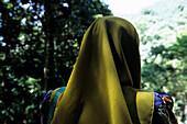 Muslim Woman's Headdress, Langkawi, Malaysia, Asia