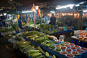 Night Market Vegetable Stands, Pasar Malam Night Market, Bandar Seri Begawan, Brunei Darussalam, Asia