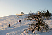 Winter Stroll on Wasserkuppe Mountain, Wasserkuppe Mountain, Rhoen, Hesse, Germany