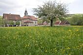 Springtime in Fladungen, Fraenkisches Freilandmuseum, Fladungen, Rhoen, Bavaria, Germany