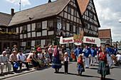 Traditional Folklore at Schlitz International Festival, Schlitz, Vogelsberg, Rhoen, Hesse, Germany