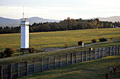 Border Fence & Observation Tower, Point Alpha Border Memorial, Rhoen, Hesse & Thuringia, Germany