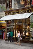 Shop windows at Kaerntner Strasse, Vienna, Austria