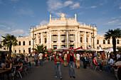Sidewalk cafe´s in front of Burgtheater, Vienna, Austria
