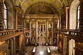The interior of the Austrian National Library's splendor hall, Vienna, Austria