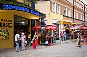 Entrance of the shopping-mall Village, Hundertwasser building, Vienna, Austria