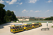 Sight-seeing train at Schoenbrunn gardens, Vienna, Austria