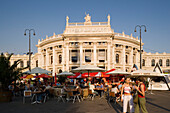 Cafe in front of the Burgtheater during the Musikfilm-Festival Music Film Festival, , Vienna, Austria